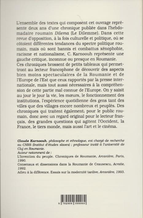 chronique orientale 4e couv